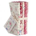 Tilda Fat Quarter Bundle Old Rose, red/white