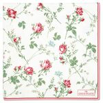 Greengate Papier-Servietten gross Constance white