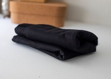 Mind the MAKER Washed Cotton Canvas Twill, Black