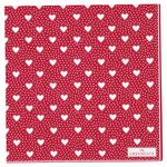 Greengate Papier-Servietten gross Penny red