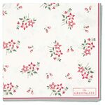 Greengate Papier-Servietten klein Avery white
