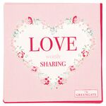 Greengate Papier-Servietten klein Love white
