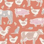 Tilda Stoff Tiny Farm Animals, ginger