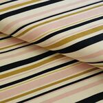 Birch Bio-Canvas Stripe, blush