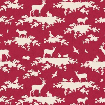 Tilda Fat Quarter Forest Carmine Red
