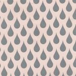 Au Maison Wachstuch Teardrops Big Soft Rose / Grey