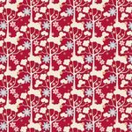 Tilda Stoff Wildgarden Red, LIMITED