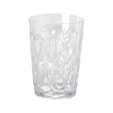 Rice Becher Acryl Swirly Embossed clear