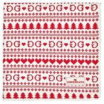 Greengate Stoffserviette December red
