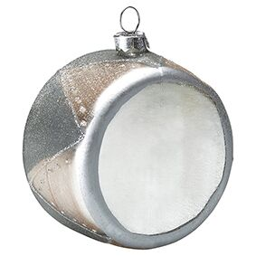 Greengate Weihnachtskugel in Trommelform Ornament Drum silver