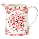 Greengate Porzellan-Krug Stephanie red, 0.5L