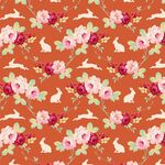 Tilda Fat Quarter Rabbit & Roses Ginger