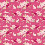 Tilda Fat Quarter Rabbit & Roses Pink