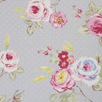 Clarke & Clarke Wachstuch English Rose grey
