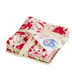 Tilda Fat Quarter Bundle Circus red, 5er Set