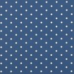 Clarke & Clarke Stoff Dotty denim
