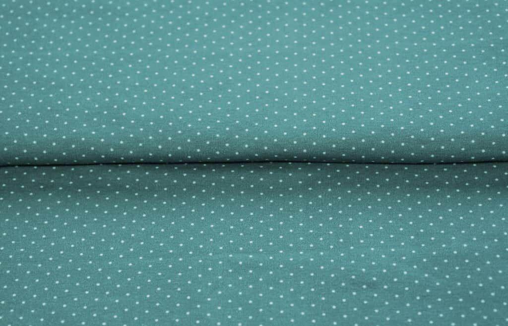 stenzo jersey stoff minidots gr n grau. Black Bedroom Furniture Sets. Home Design Ideas